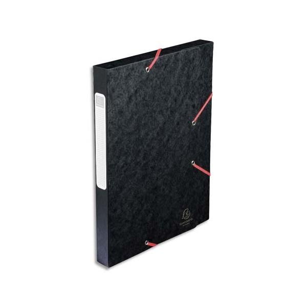 EXACOMPTA Boîte de classement dos 2,5 cm, en carte lustrée 5/10e coloris noir