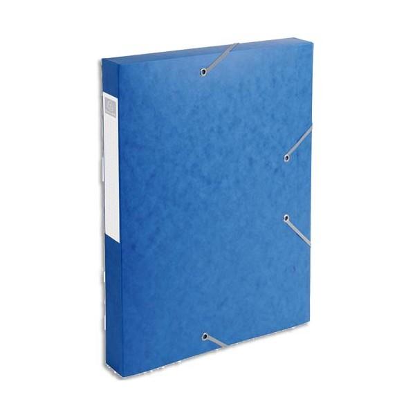 EXACOMPTA Boîte de classement dos 4 cm, en carte lustrée 5/10e coloris bleu