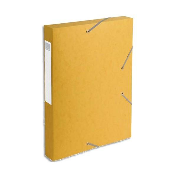 EXACOMPTA Boîtede classement dos 4 cm, en carte lustrée 5/10e coloris jaune