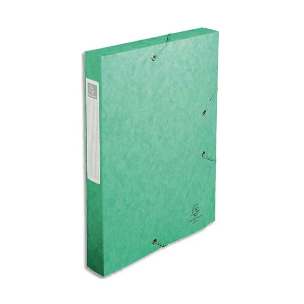 EXACOMPTA Boîte de classement dos 4 cm, en carte lustrée 5/10e coloris vert