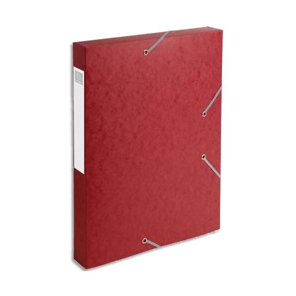 EXACOMPTA Boîte de classement dos 4 cm, en carte lustrée 5/10e coloris rouge