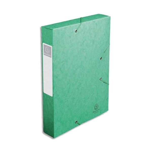 EXACOMPTA Boîte de classement dos 6 cm, en carte lustrée 7/10e coloris vert