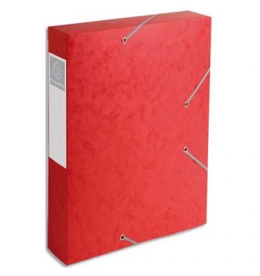 EXACOMPTA Boîte de classement dos 6 cm, en carte lustrée 7/10e coloris rouge