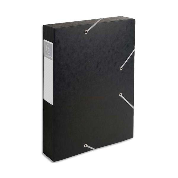 EXACOMPTA Boîte de classement dos 6 cm, en carte lustrée 7/10e coloris noir