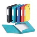 ELBA Boîtes classement EUROFOLIO carte lustrée, dos 40 mm, fermeture élastique, 330 x 250 mm, coloris assortis