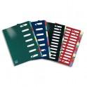 ELBA Trieur Carte d'or 12 compartiments coloris assortis, couverture en carte pelliculée 7/10e