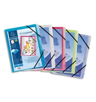 EXACOMPTA Trieurs personnalisables KREACOVER en polypropylène, 8 compartiments, coloris assortis