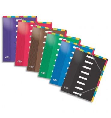 ELBA Trieur en carte pelliculée, 8 positions verticales et horizontales, A4, coloris assortis
