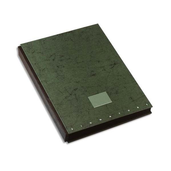 ELBA Parapheur Signature 24 compartiments vert, couverture pelliculée imprimée (photo)