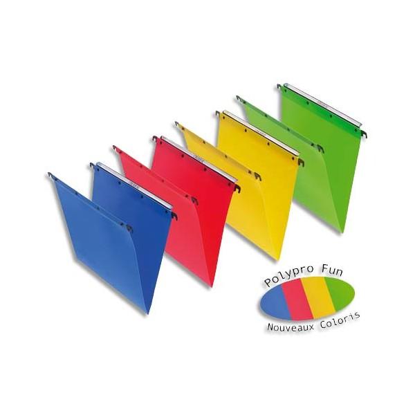 L'OBLIQUE AZ BY ELBA Pack 10 Dossiers suspendus TIROIR en polypropylène opaque. Fond 30 m