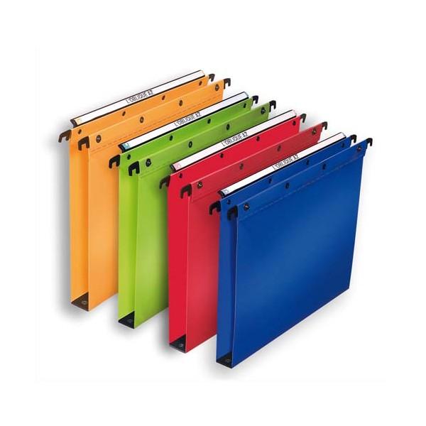L'OBLIQUE AZ BY ELBA Pack 10 Dossiers suspendus tiroirs en polypropylène opaque. Fond 30