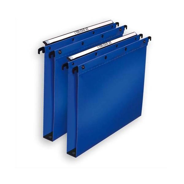 L'OBLIQUE AZ BY ELBA Pack 10 Dossiers suspendus TIROIR en polypropylène opaque. Fond 15 m