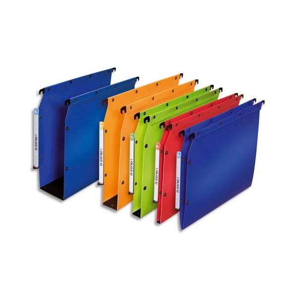 L'OBLIQUE AZ BY ELBA Pack 10 dossiers suspendus ARMOIRE en polypropylène opaque. Fond 50