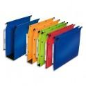 L'OBLIQUE AZ BY ELBA Pack 10 Dossiers suspendus ARMOIRE en polypropylene opaque. Fond 80 mm, bouton-pression. Bleu