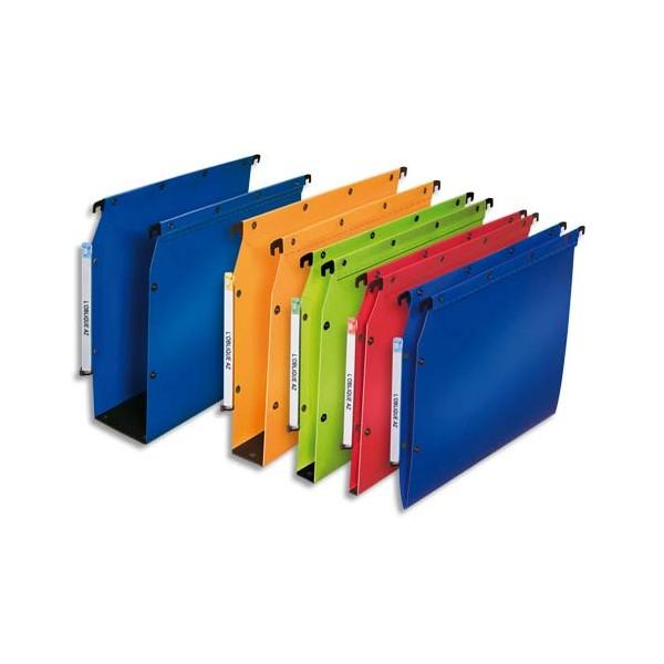 L'OBLIQUE AZ BY ELBA Pack 10 Dossiers suspendus ARMOIRE en polypropylène opaque. Fond 80
