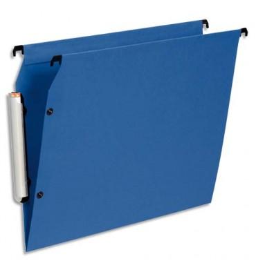 ESSELTE Pack de 10 dossiers suspendus ARMOIRE en polypropylène opaque. Fond V, bouton-pression. Bleu