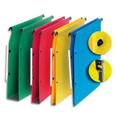 5 ETOILES Boîte de 25 dossiers suspendus ARMOIRE en kraft 220g. Fond 30 mm, volet agrafage + pression. Rouge