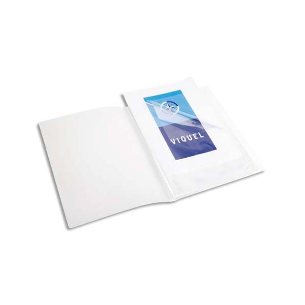 VIQUEL Protège-documents translucide A3, 40 vues 20 pochettes, couverture 7/10e, pochettes 7/100e
