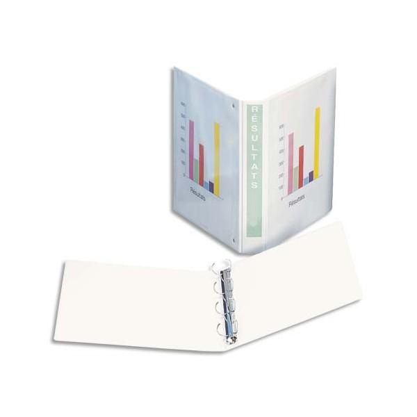 ESSELTE Classeur à couverture personnalisable sur 3 faces en polypropylène dos de 5 cm c