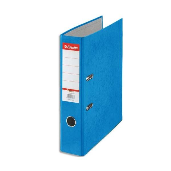 ESSELTE Classeur à levier papier couleur Rainbow dos de 8 cm bleu
