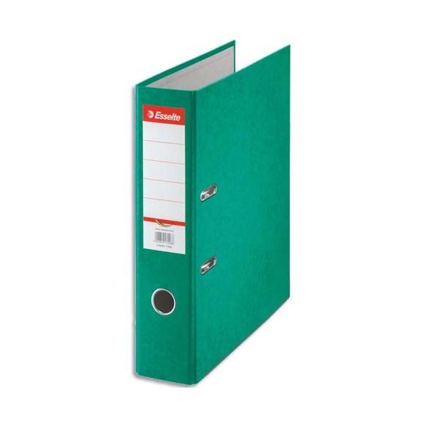 ESSELTE Classeur à levier papier couleur Rainbow dos de 8 cm vert