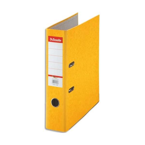 ESSELTE Classeur à levier papier couleur Rainbow dos de 8 cm jaune