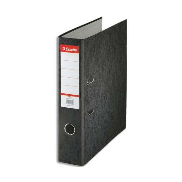 ESSELTE Classeur à levier papier couleur Rainbow dos de 8 cm noir