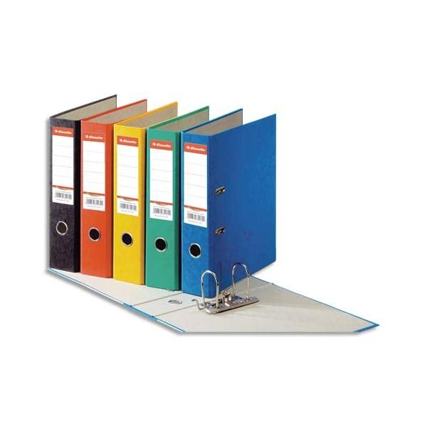 ESSELTE Classeur à levier papier couleur Rainbow dos de 8 cm couleurs assorties