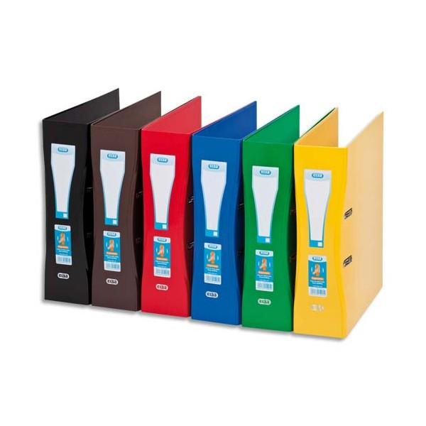 ELBA Classeur à levier papier pelliculé SCHOOL LIFE, format A4 maxi, dos 8 cm, coloris a