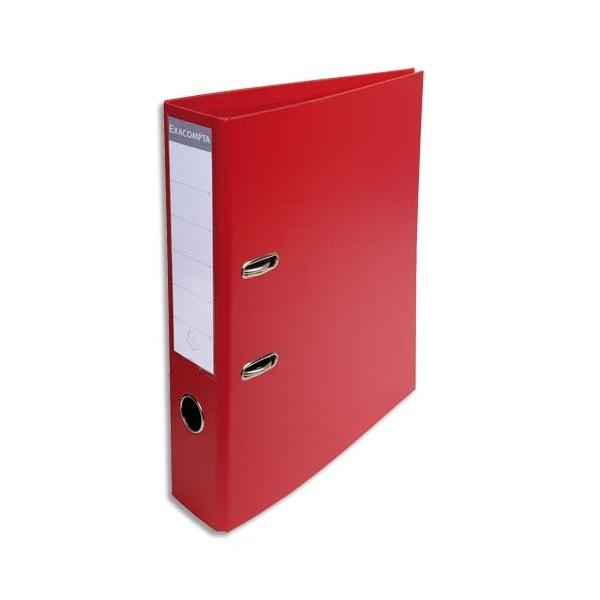 EXACOMPTA Classeur à levier PVC dos de 70 mm rouge