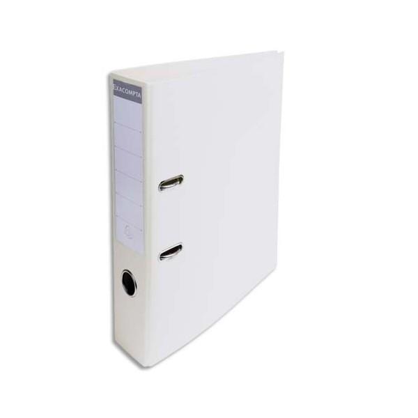EXACOMPTA Classeur à levier PVC dos de 70 mm blanc