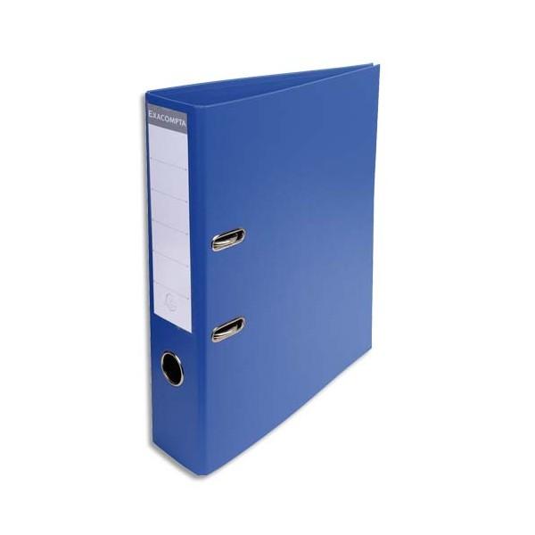 EXACOMPTA Classeur à levier PVC dos de 70 mm bleu foncé