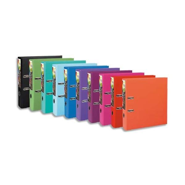 EXACOMPTA Classeurs à levier en polypropylène PREM TOUCH dos de 8 cm coloris Assortis Te