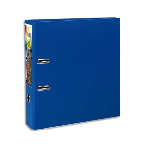EXACOMPTA Classeur à levier en polypropylène PREM TOUCH dos de 8 cm coloris Bleu Foncé