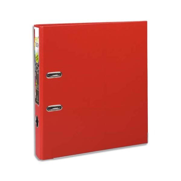 EXACOMPTA Classeur à levier en polypropylène PREM TOUCH dos de 8 cm, coloris Rouge