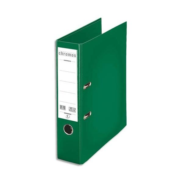 ESSELTE Classeur à levier dos 8 cm Chromos Plus plastifié intérieur et extérieur vert