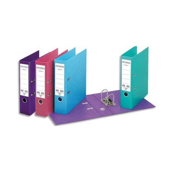 ESSELTE Casseurs à levier dos 8 cm Chromos Plus plastifié intérieur et extérieur assor