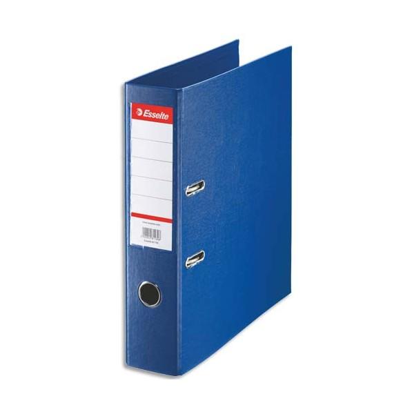 ESSELTE Classeur à levier à dos de 7,5 cm plastifié intérieur et extérieur bleu