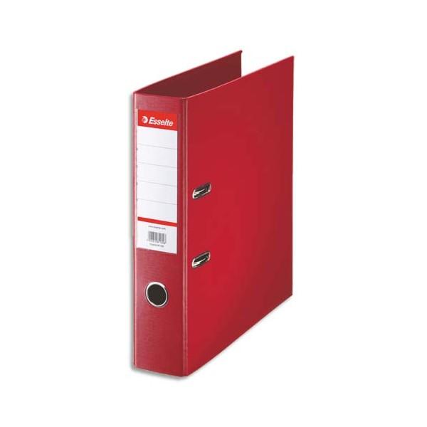 ESSELTE Classeur à levier à dos de 7,5 cm plastifié intérieur et extérieur rouge