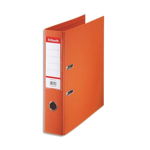 ESSELTE Classeur à levier à dos de 7,5 cm plastifié intérieur et extérieur orange