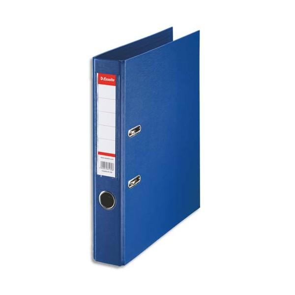 ESSELTE Classeur à levier à dos de 5 cm plastifié intérieur et extérieur bleu