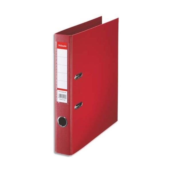 ESSELTE Classeur à levier à dos de 5 cm plastifié intérieur et extérieur rouge