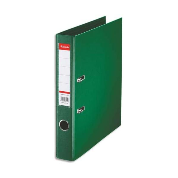 ESSELTE Classeur à levier à dos de 5 cm plastifié intérieur et extérieur vert