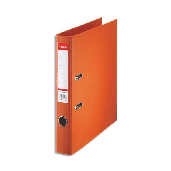 ESSELTE Classeur à levier à dos de 5 cm plastifié intérieur et extérieur orange