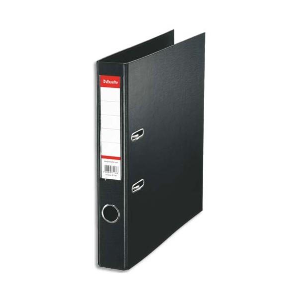 ESSELTE Classeur à levier à dos de 5 cm plastifié intérieur et extérieur noir