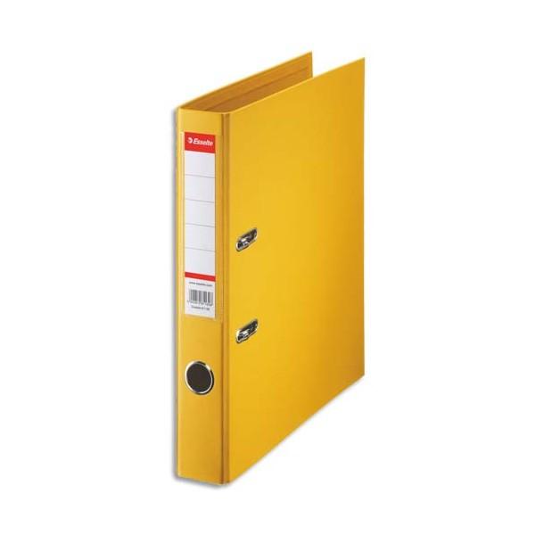 ESSELTE Classeur à levier à dos de 5 cm plastifié intérieur et extérieur jaune