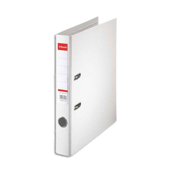 ESSELTE Classeur à levier à dos de 5 cm plastifié intérieur et extérieur blanc