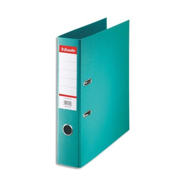ESSELTE Classeur à levier à dos de 7,5 cm plastifié intérieur et extérieur turquoise