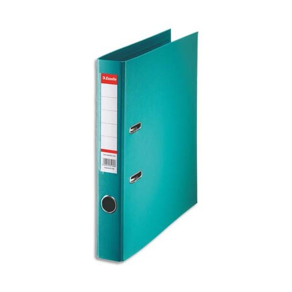 ESSELTE Classeur à levier à dos de 5 cm plastifié intérieur et extérieur turquoise