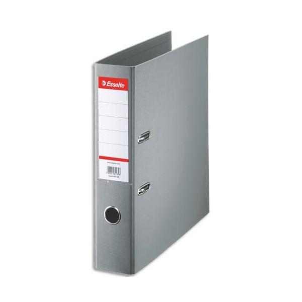 ESSELTE Classeur à levier à dos de 7,5 cm plastifié intérieur et extérieur gris